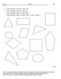 Basic Geometry Common Core Aligned Assessment