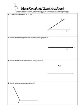 Geometry Constructions - Instructions with Practice