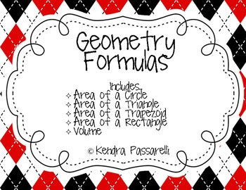 Basic Geometry Formulas (Classroom Posters)