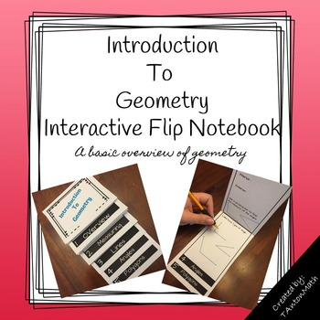 Introducton to Geometry Mini Flip Book for Interactive Notebooks