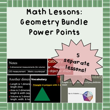 Basic Geometry Review: Power Point Lessons