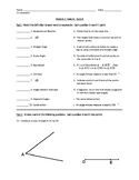 Basic Geometry Terminology and Construction Quiz (4 Versions)
