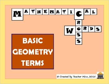 Basic Geometry Terms Crossword