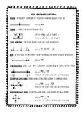 Basic Geometry Terms Journal Resources and Worksheets