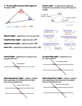 Basic Geometry Vocabulary