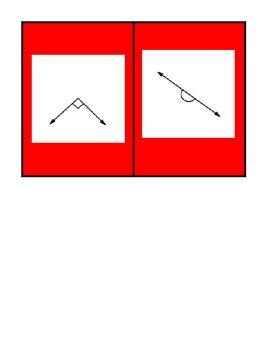 Basic Geometry Vocabulary Card Games