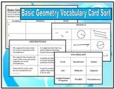 Basic Geometry Vocabulary Card Sort