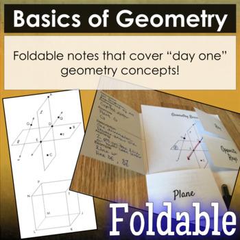 Basic Geometry Vocabulary Foldable
