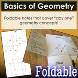 Basic Geometry Vocabulary Foldable