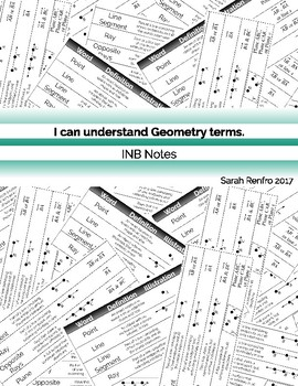 Basic Geometry Vocabulary INB Notes