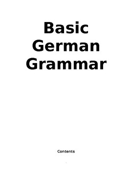Basic German Grammar