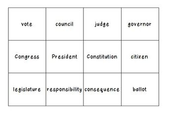 Basic Government Matching Game