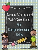 Basic Nouns, Verbs, and Reading Comprehension Practice Wor