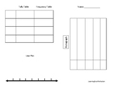 Basic Graph Templates (Pictograph Line Plot and Tally/Frequency)
