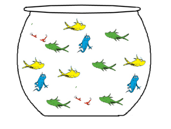 Basic Graphing Dr. Seuss Red Fish Blue Fish