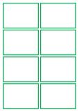 Basic Green Flashcard Template