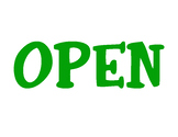 """Basic Green """"Open"""" Store Sign Dramatic Play Printable"""