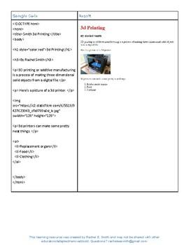 Create a Webpage Using HTML