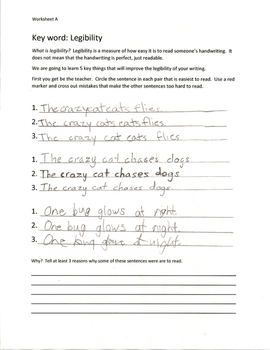 Basic Handwriting Set- 5 Lessons to Improve Legibility for Grades 3 and Higher