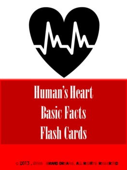Basic Heart Facts Flash Cards