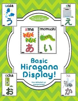 Basic Japanese Hiragana Display!