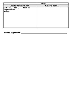 Basic Home Communication Sheet
