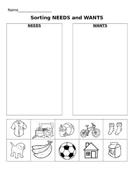 Animals and Human Needs (Match and Colour Worksheet) by The Kinder ...