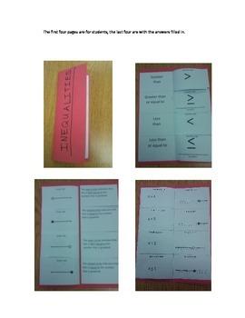 Basic Inequalities Folded Notes