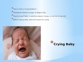 Basic Infant Care Power Point, Notes/Key, Infant Activity
