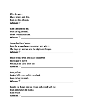 Basic Inferences Worksheets
