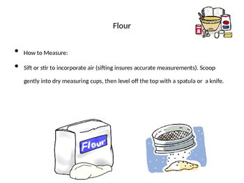 Basic Ingredients of Baking Power Point/Activities/Student Notes/Key