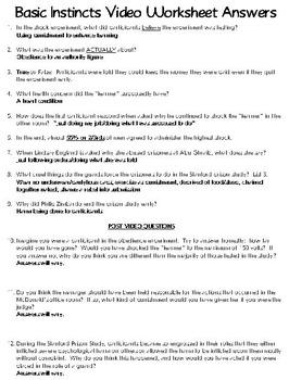 Basic Instincts 5 (Milgram Experiment Re-Visited) Video Worksheet