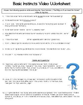 Basic Instincts 5 Video Worksheet