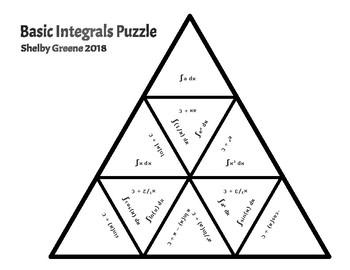 Basic Integrals Match Puzzle - AP Calculus AB/BC