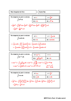 Basic Integration by Parts