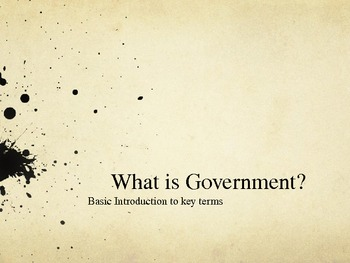 Basic Intro to Government Power Point