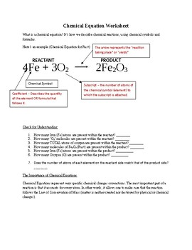 Basic Introduction to Balancing Chemical Equations (Counting Atoms)