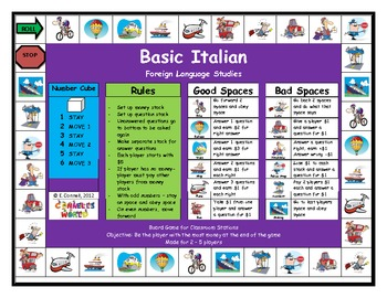 Basic Italian Board Game