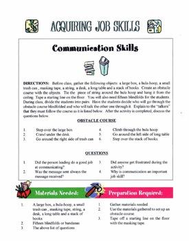 Basic Job Skills Used At Most Jobs Lesson