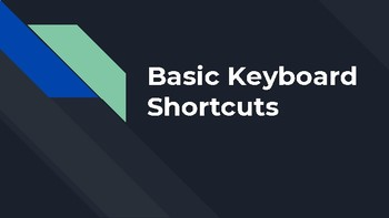 Basic Computer Keyboard Shortcuts (PC)