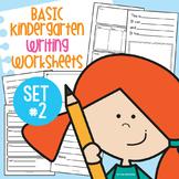 Basic Kindergarten Writing Worksheets Activity Pack 2