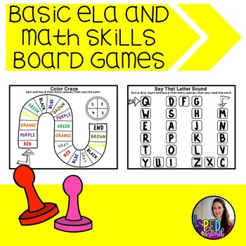 Basic Knowledge ELA and Math Board Games