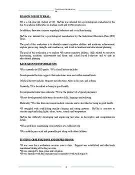 Basic LD Report Format