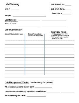 Basic Lab Planning Guide Form