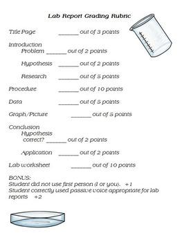 Basic Lab Report Rubric