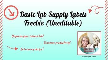 Basic Lab Supply Labels