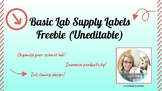 Basic Lab Supply Labels