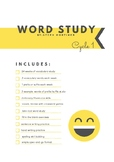 Word Study Cycle 1 PREVIEW