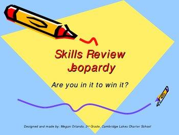 Basic Language Arts Skills Review Jeopardy