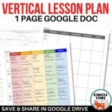 Basic Lesson Plan Template Google Docs, EDITABLE Teacher Weekly Planner
